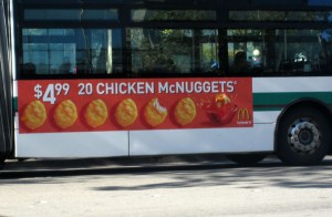 McDonald's Bus Advertisement