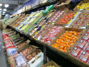 Available wholesale produce at Hunts Point Produce Market