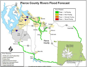Pierce County Rivers Flood Forecast
