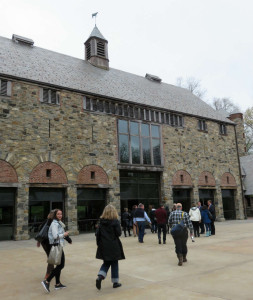 Entering the Stone Barns Conference Center