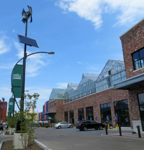 Whole Foods entrance, greenhouse and parking lot--Brooklyn, NY