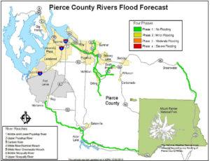 Pierce County Rivers Flood Forecast