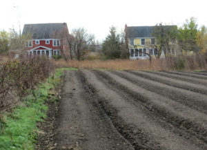 Prairie Crossing Homes and Plowed Farmland