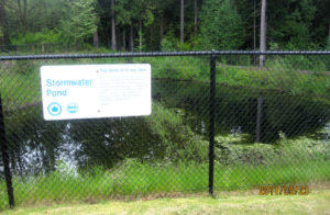 Typical Fenced Stormwater Pond in Seattle