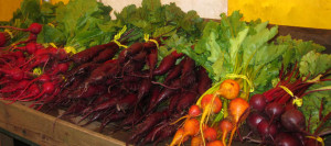 So many kinds of beets at Nash's Organic Produce stand